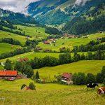 الطبيعة السويسرية الخلابة